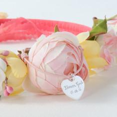 Flower Girl personalised heart charm bracelet