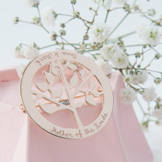 Mother of the Bride personalised tree of life brooch