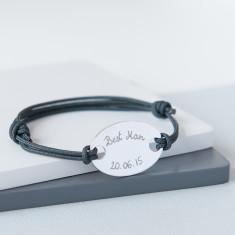 Best Man personalised oval plate bracelet