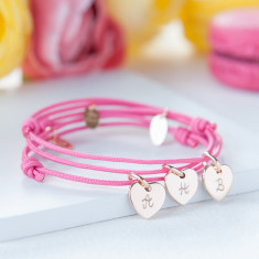 Women's personalised initial heart bracelet