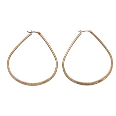 Hoop earring in silver or gold
