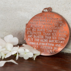 I'll always be with you... engraved vintage locket