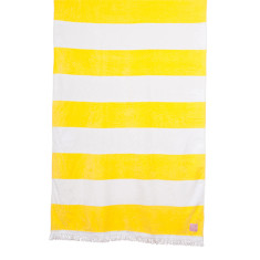 Yellow stripe beach towel