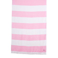 Beach towel in light pink stripe