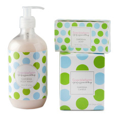 Gardenia hand & body wash, candle & soap set