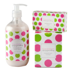 Watermelon hand & body wash, candle & soap set