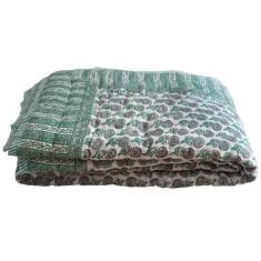 Aqua Buti small/cot quilt