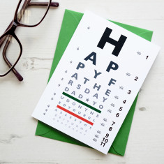 Father's Day funny eye chart card