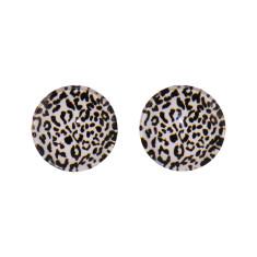 Jungle glass stud earrings