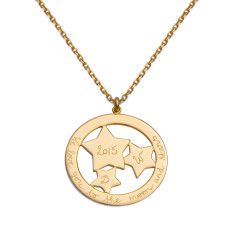 Women's personalised constellation necklace
