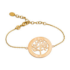 Mother's personalised tree of life chain bracelet