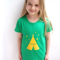 Kids' age teepee t-shirt (various colours)