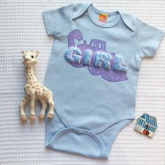 Blue for Girl Baby Grow