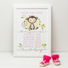 The Day You Were Born Personalised New Baby Print