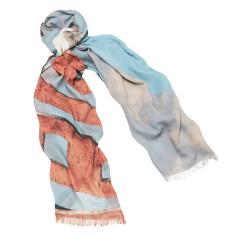 Beach Marina linen-blend scarf