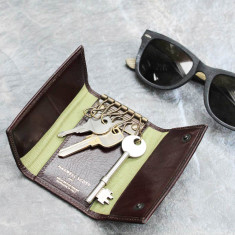 Lapo leather key case wallet