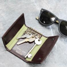 Lapo leather key case wallet