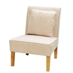 Linen chair & cushion
