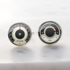Vintage car speed cuff links in silver