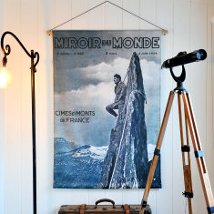 One Mountain at a Time Linen Wall Hanging