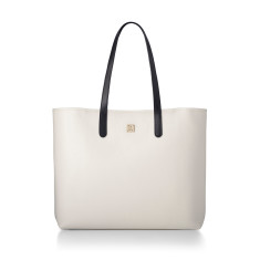 Hampton Beige & Navy Nappa Leather Tote
