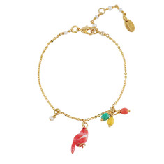 Red lovely canary bracelet