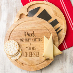 Personalised 'Age Only Matters' Cheese Board Set