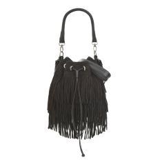 Frances fringed bucket bag