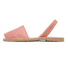 Fonti leather sandals in coral