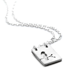 Personalised birdie locket necklace