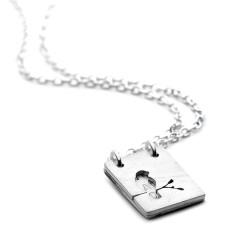 Personalised birdie locket necklace