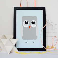 Ollie The Owl Nursery Print