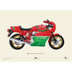 Ducati Mike Hailwood motorcycle poster