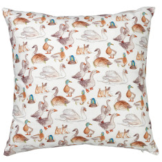Duck print cushion