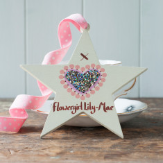 Personalised Bridesmaid or Flowergirl Star Decoration