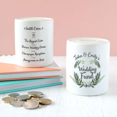 Personalised Wedding Fund Keepsake Money Box