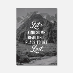 Mountain Travel Inspiration Mini Art Print