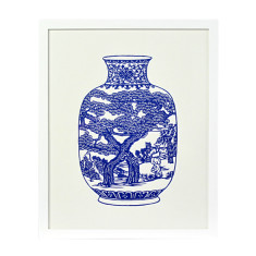 Decorative vase no. 3 framed artwork