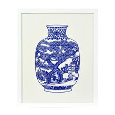Decorative vase no. 3 framed artwork