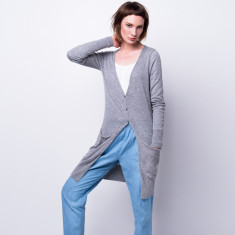 Cashmere breeze long cardi in Grey