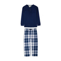 Navy & White Plaid Pyjamas