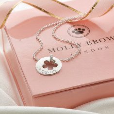 Personalised Sterling Silver 'Hope' Open Flower Necklace