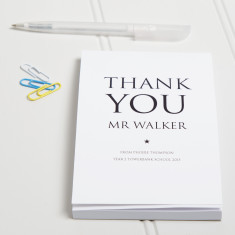 Personalised Thank You Teacher Notepad
