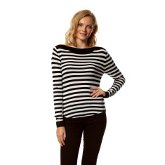 Audrey sweater in black & ivory