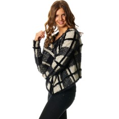 Coco cardi in black/ivory