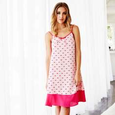 Pink hope signature night dress