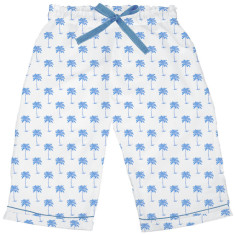 Palm Sunday blue women's sleep shorts