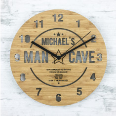 Personalised Man Cave Wall Clock