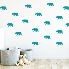 Polar Bears Wall Decals