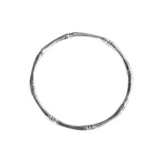 Bamboo Round Bangle in Sterling Silver